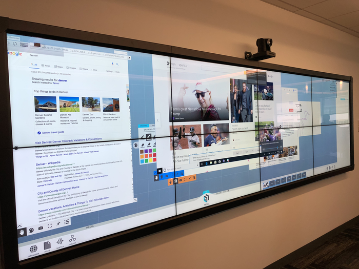 Entice Visitors and Encourage Collaboration with Planar's Clarity® Matrix® MultiTouch LCD Video Wall System